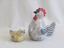 Poule et son Poussin