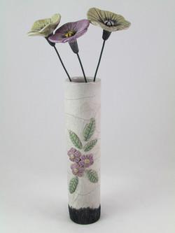 Vase déco Fleurs Mauve avec Fleurs
