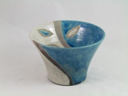 Coupelle Feuilles Bleu Pétrole