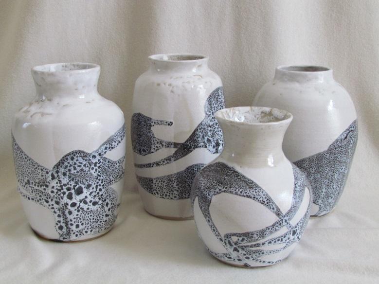 """vases """"gouttes d'huile"""""""