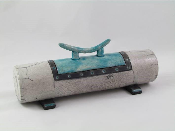 Boite Cylindrique Zen Turquoise
