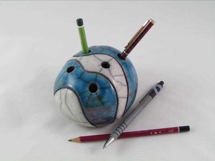 Pique-Crayon Bleu Pétrole
