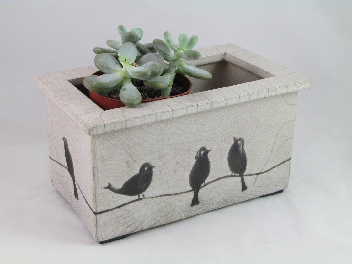 Jardinière Oiseaux+Chat