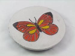 Dessous-Plat Papillon Rouge