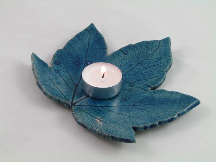 Feuille-érable Bleu Pétrole