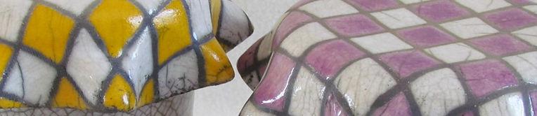 céramique pots raku fait main pièce unique Danièle et Jean-Pierre MEYER