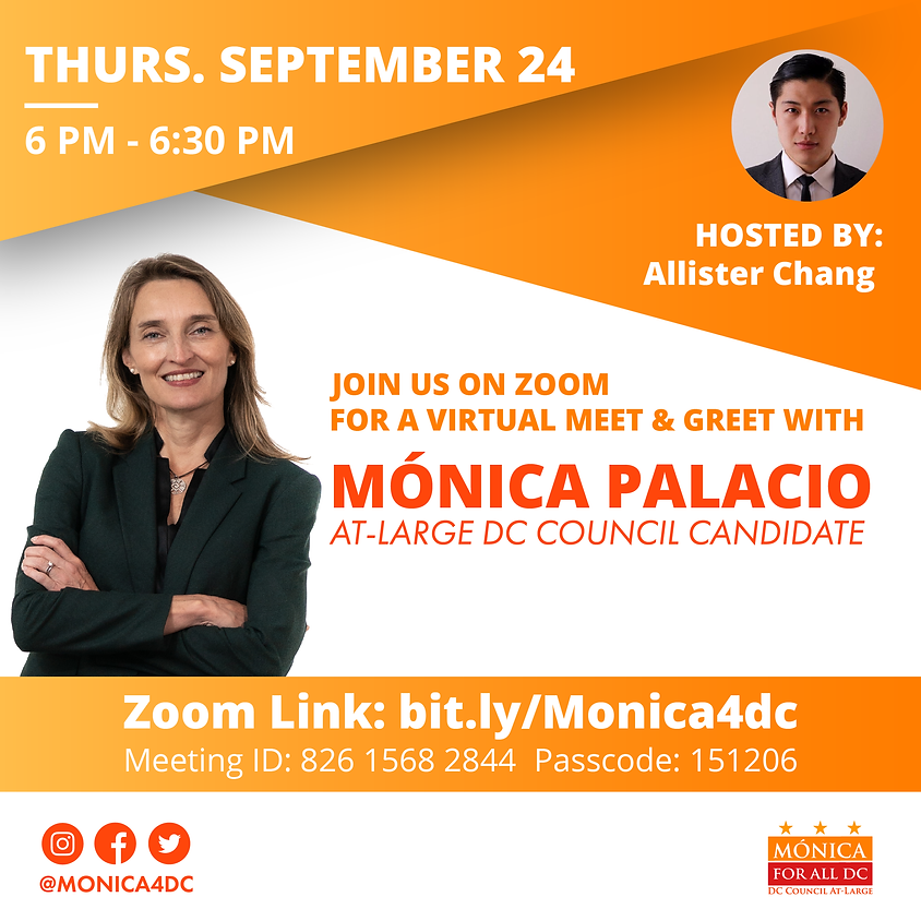 Meet and Greet with Mónica Hosted by Allister Chang