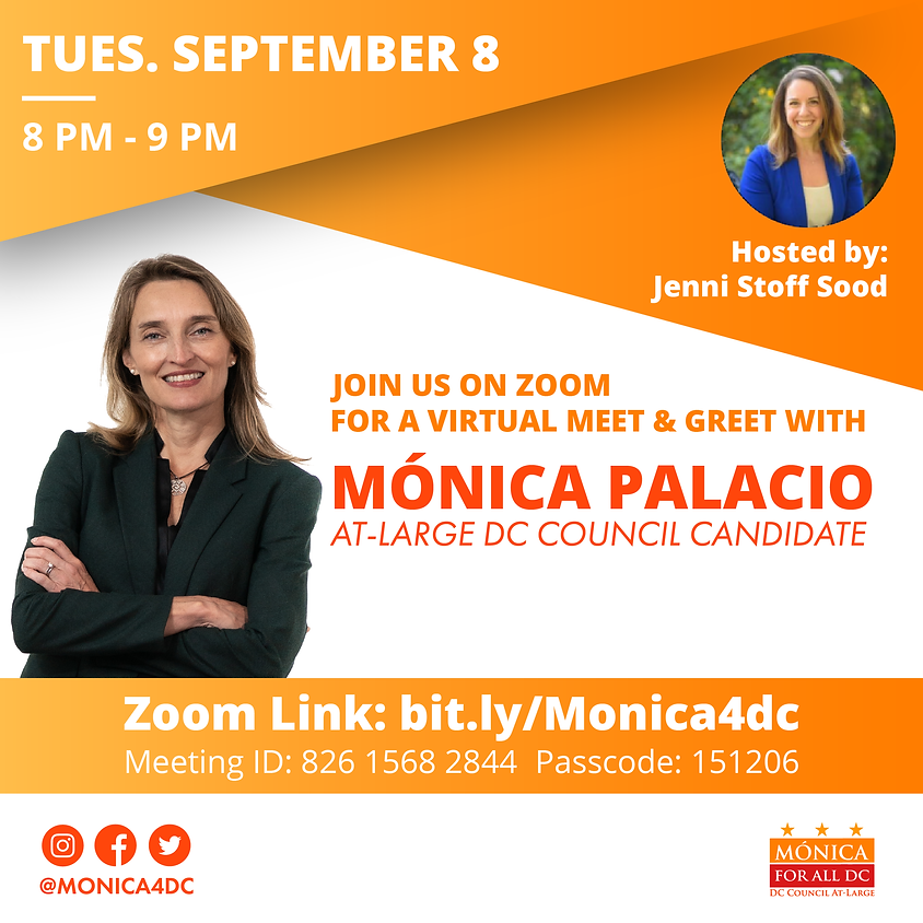 Meet and Greet with Mónica Hosted by Jenni Stoff Sood