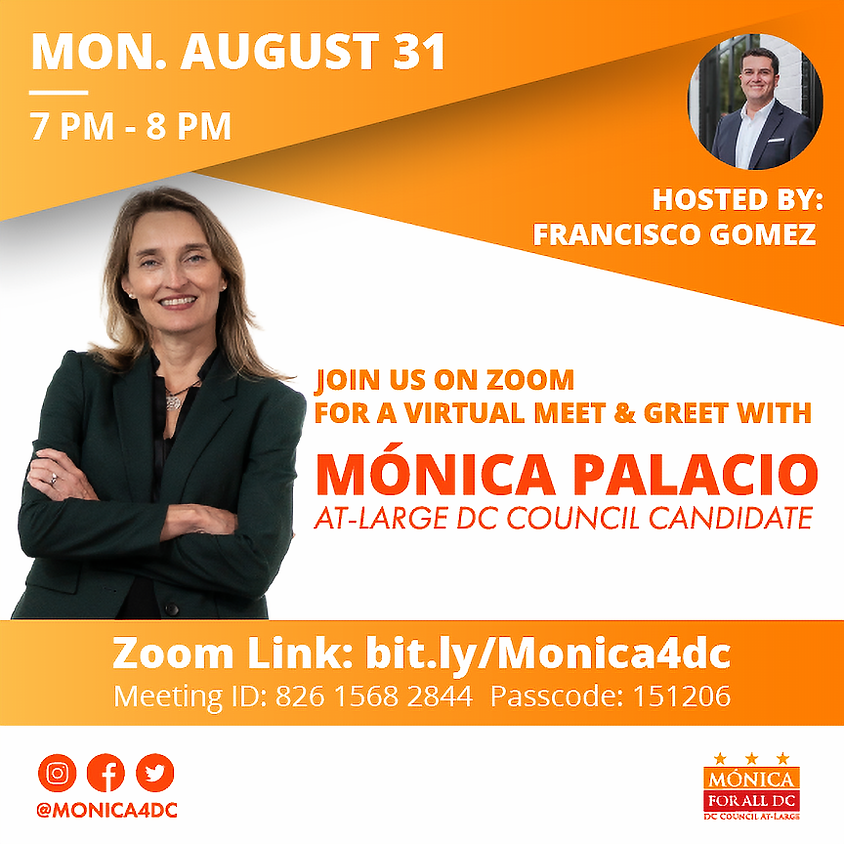 Meet and Greet with Mónica Hosted by Francisco Gomez