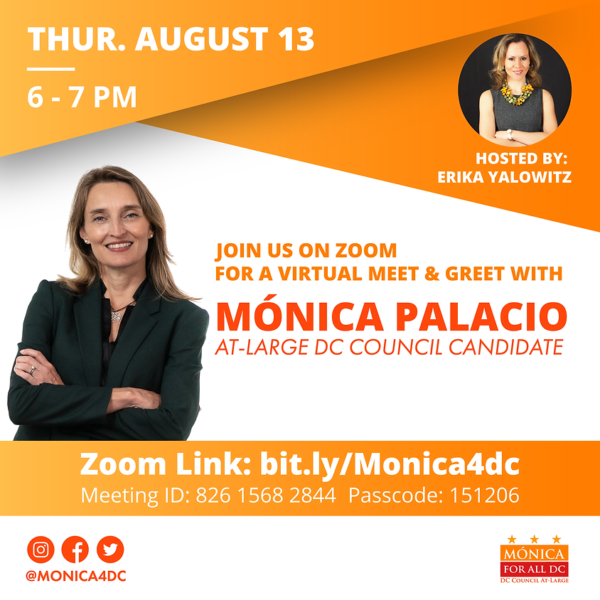 Meet and Greet with Mónica Hosted By Erika Yalowitz