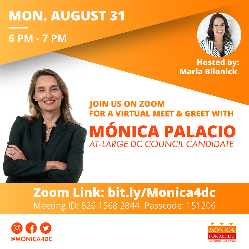 Meet and Greet with Mónica Hosted by Marla Bilonick