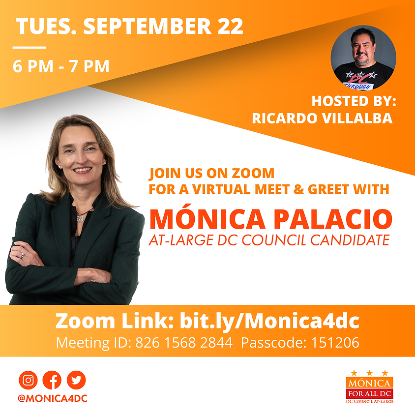 Meet and Greet with Mónica Hosted by Ricardo Villalba