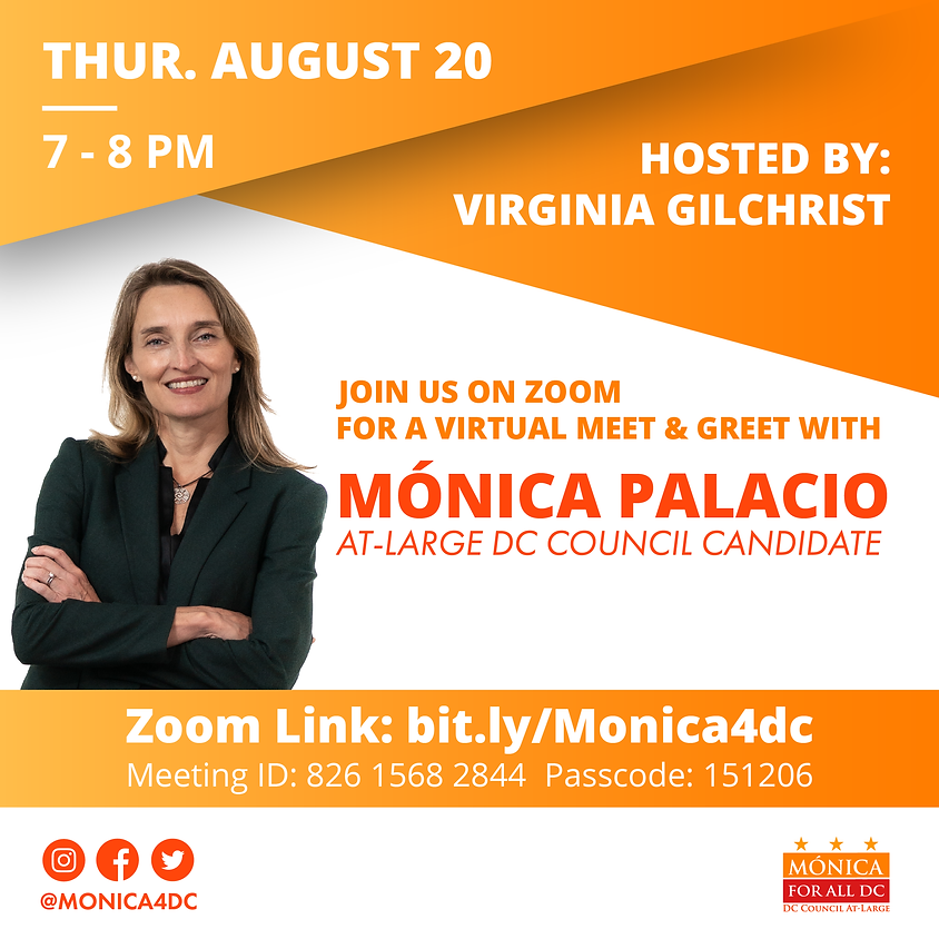 Meet and Greet with Mónica Hosted by Virginia Gilchrist