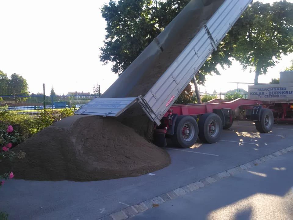 Sandlieferung