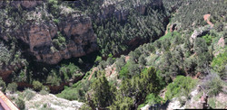 Another view from the terrifying drive up to the Cave of the Winds