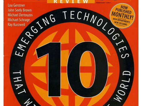 Dr. Atick in MIT's 10 Emerging Technologies that will Change the World (2001)