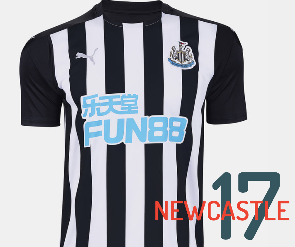 Newcastle United home kit 2020/21