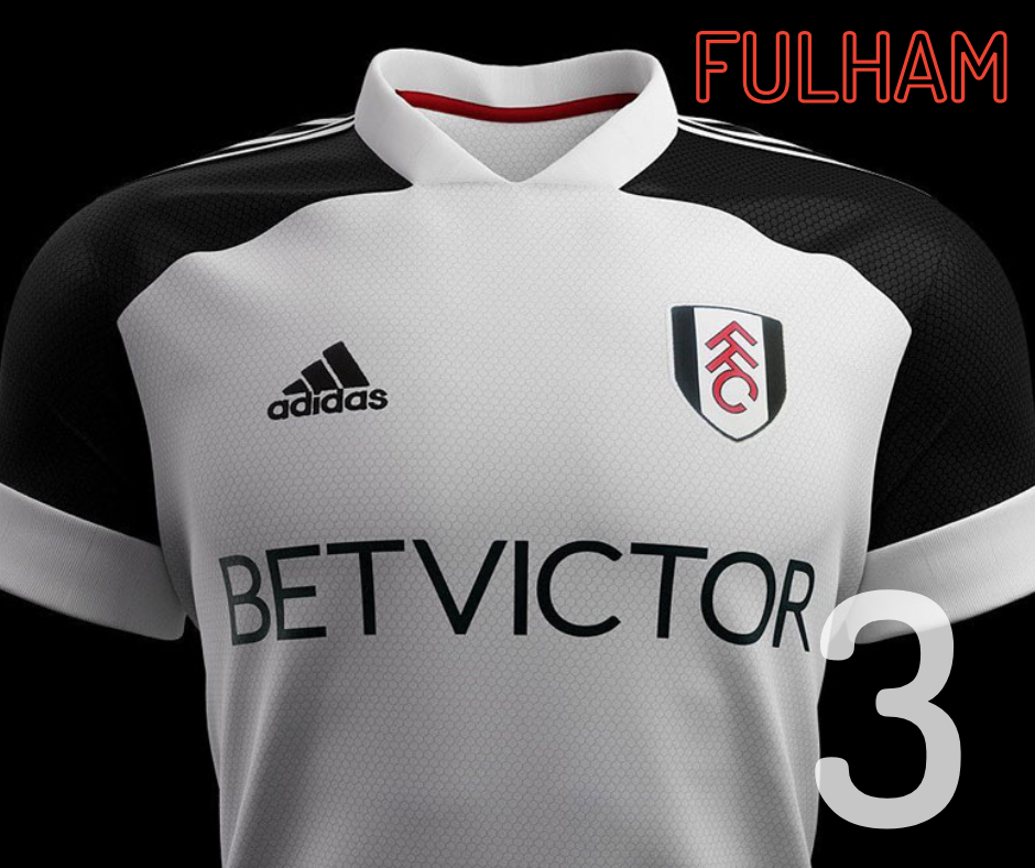 Fulham home kit 2020/21