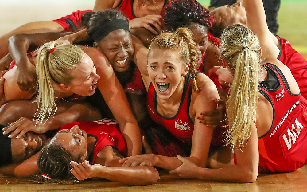 England Netball beat Australia to win Commonwealth Gold in 2018.