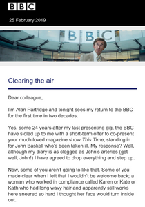 A classic PR and marketing technique worked for Alan Partridge's new show