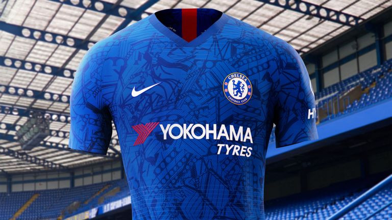 Nike produced this kit for Chelsea's new season