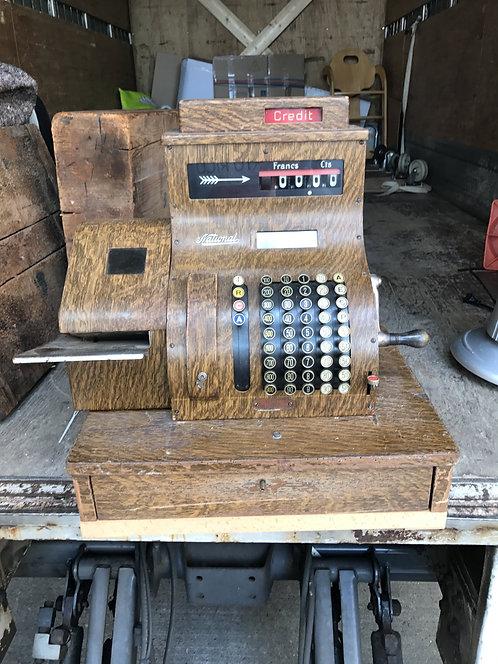 Old Wooden National Cash Register