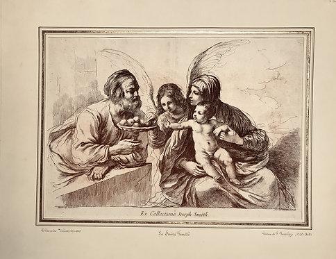 Holy Family Francesco Bartolozzi After Guercino