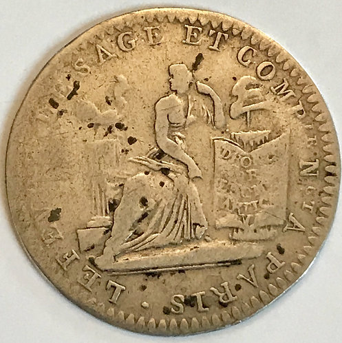 10 sols de Lefevre Lesage et Cie - 1792