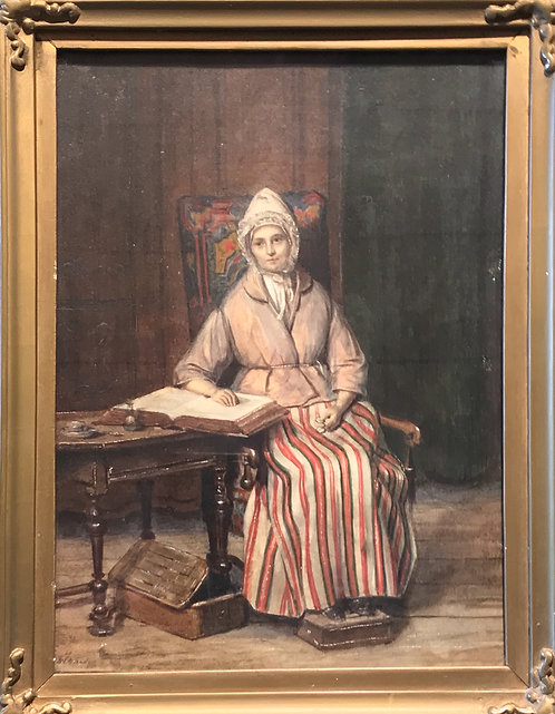 """Sebastien Straub """"La Malade"""" Salon de 1843"""