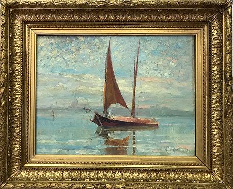 Louis Baudit Barques sur le Léman