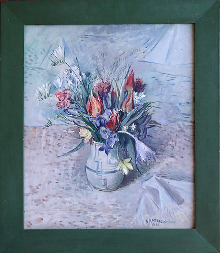 EMANUELE RAMBALDI, Vaso di fiori, Flowers in a vase.
