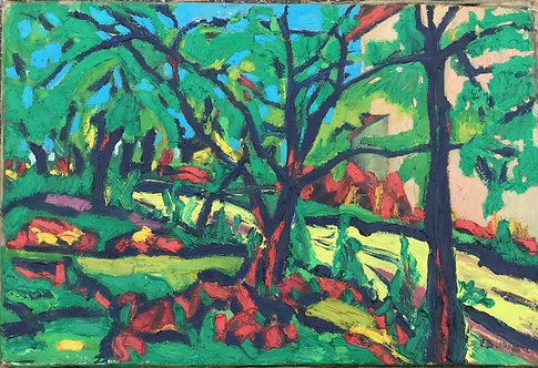 Expressionist painting monogramed E.B. 1907