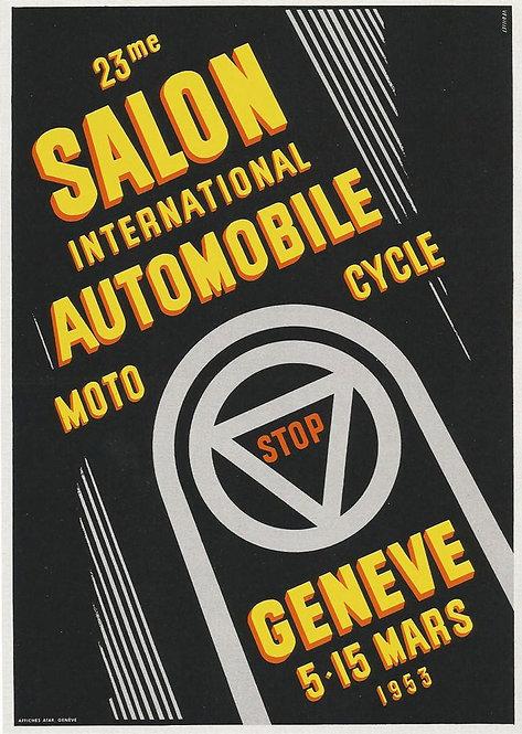 SALON INTERNATIONAL DE L'AUTO GENÈVE 1953