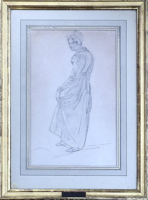 Adam-Wolfgang Topffer drawing of a peasant girl