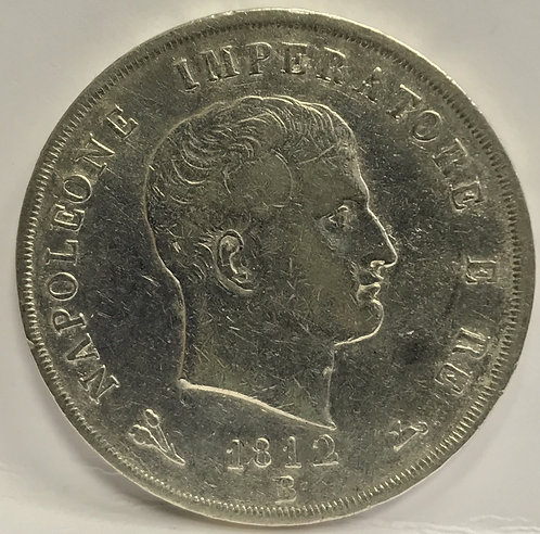 Italian States KINGDOM OF NAPOLEON IMPERATORE 5 Lire