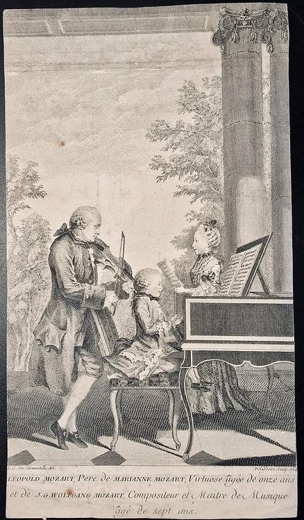 Leopold Mozart and His Children by Jean-Baptiste Joseph Delafosse Paris1764