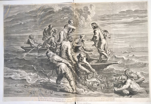 The miraculous draught of fishes after Peter Paul Rubens