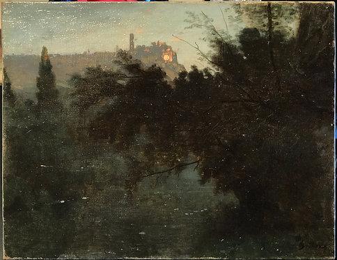 François-Louis Français a pond at Bas Meudon