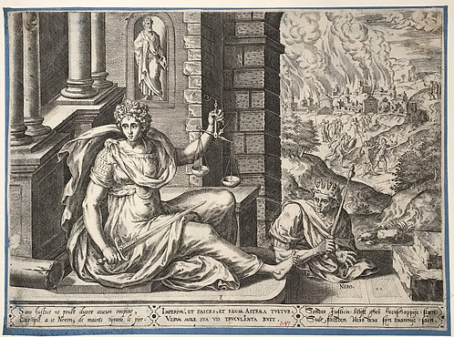 Hans Collaert the Elder  Nero and Justitia