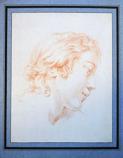 Old Master Drawing Portrait of an ephebe