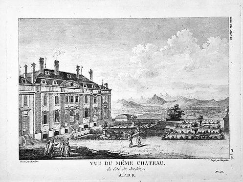 Vue du Chateau de Ferney Voltaire - du Cote du Jardin
