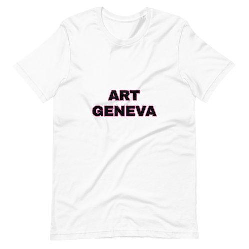 ART GENEVA T-shirt Unisexe à Manches Courtes