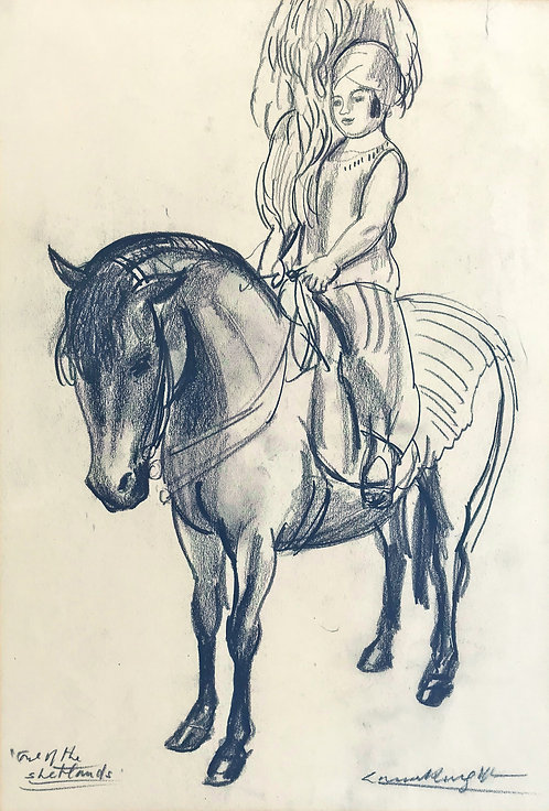 """Dame Laura Knight """" One of the Shetlands"""""""