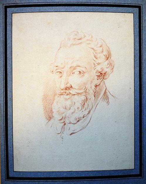 Portrait of Henri IV of France Old Master Drawing