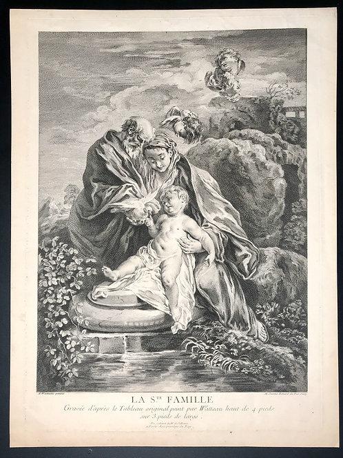 L'Oeuvre d'Antoine Watteau Peintre du Roy / Recueil Jullienne / La Ste Famille