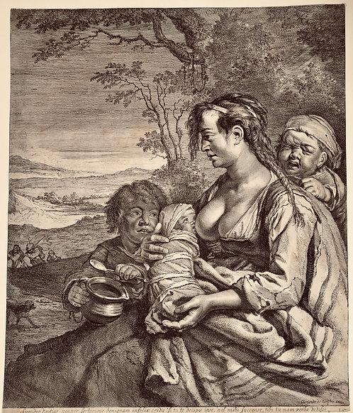 The Gipsy; Clement de Jonghe - Cornelis Visscher - etching