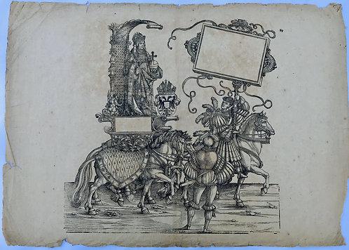 The Triumphal Procession of Emperor Maximilian; Hans Burgkmair Plate 106