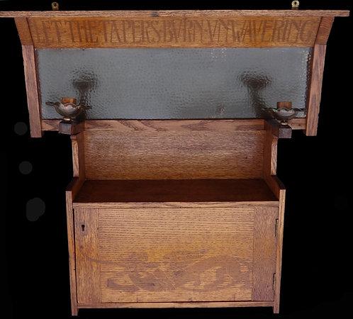 Lord Alfred Tennyson – Oak Arts & Crafts cupboard