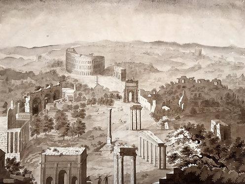 Forum Romanum Vue, from the Capitoline Hill