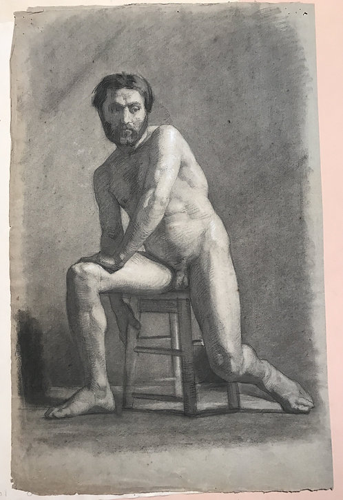 Drawing male nude academy